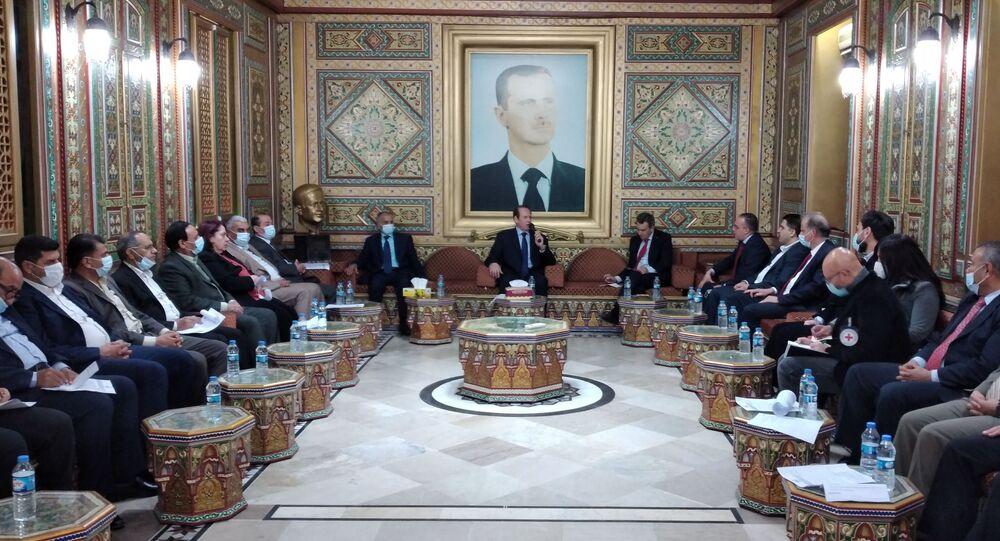 زيارة أعضاء لجنة منظمة الصليب الأحمر الدولية إلى سوريا