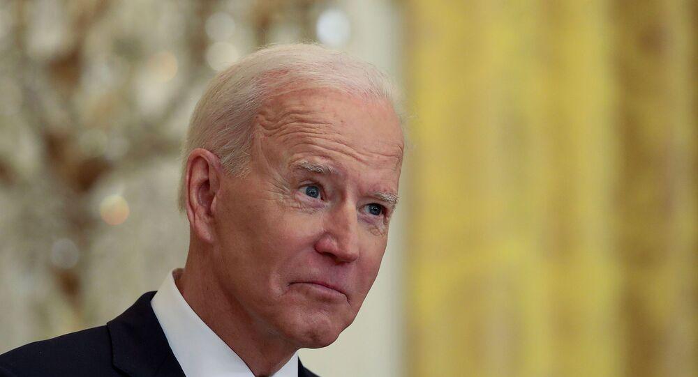 الرئيس الأمريكي، جو بايدن، يعقد مؤتمرا صحفيا في البيت الأبيض بالعاصمة الأمريكية، واشنطن، 25 مارس/ آذار 2021