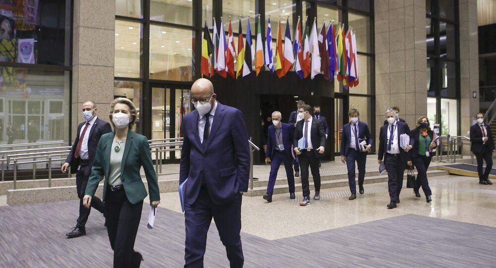 رئيس المجلس الأوروبي و رئيسة المفوضية الأوروبية شارل ميشيل وأورسولا فون دير لاين