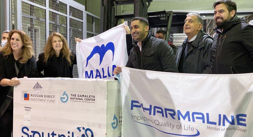 ارسال اللقاح سبوتنيك V المضاد لفيروس كرورونا إلى لبنان، 25 مارس 2021