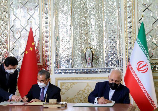 توقيع اتفاقية تعاون استراتيجي بين إيران و الصين، 27 مارس 2021