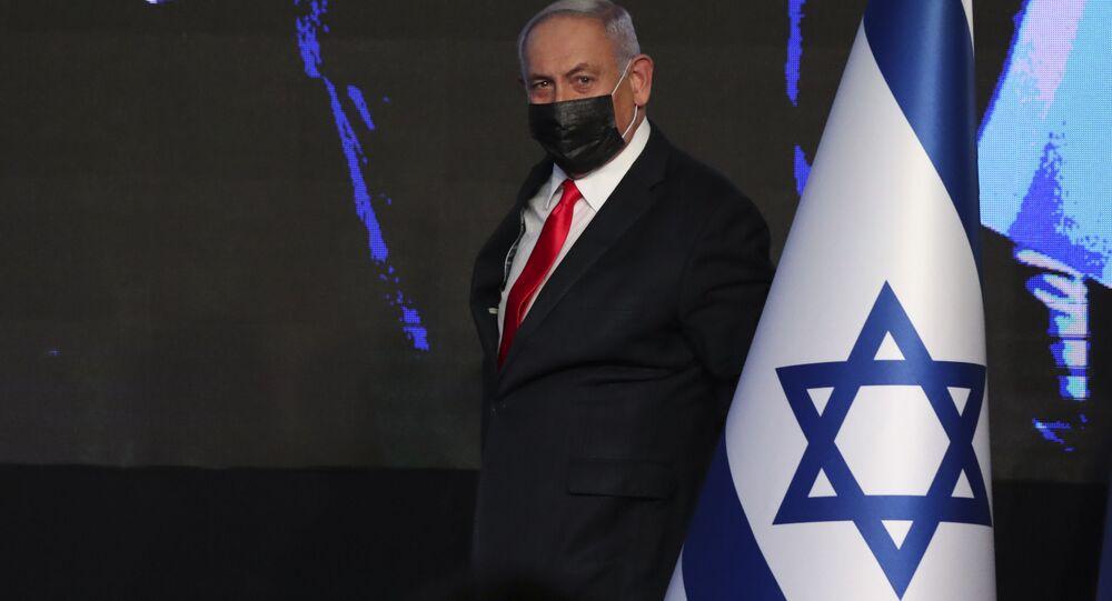 انتخابات الكنيست الإسرائيلي - رئيس الحكومة الإسرائيلية بنيامين نتنياهو، 24 مارس 2021