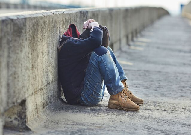 شاب في الشارع