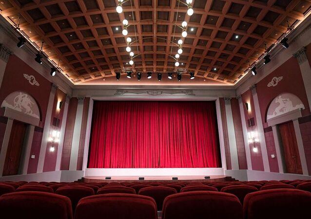 سينما خودوزيسفيني بعد ترميمها، وهي أقدم سينما في موسكو تأسست في عام 1909، روسيا