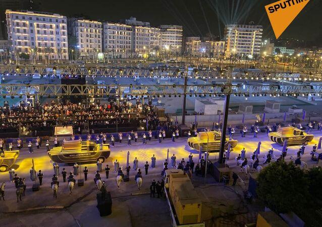موكب نقل الموامياوات الملكية من المتحف المصري بالتحرير إلى متحف الحضارة المصرية بالفساط، ٣ أبريل/ نيسان ٢٠٢١