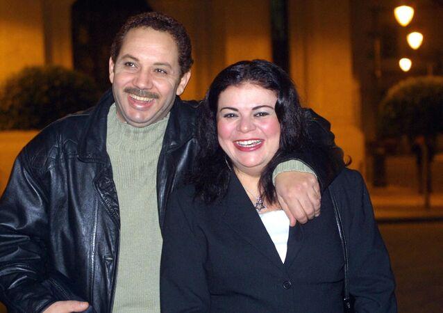 الفنان المصري، كمال أبو رية، مع زوجته السابقة الفنانة، ماجدة زكي