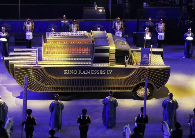 الموكب الذهبي: موكب المومياوات الملكية، القاهرة، مصر 3 أبريل 2021