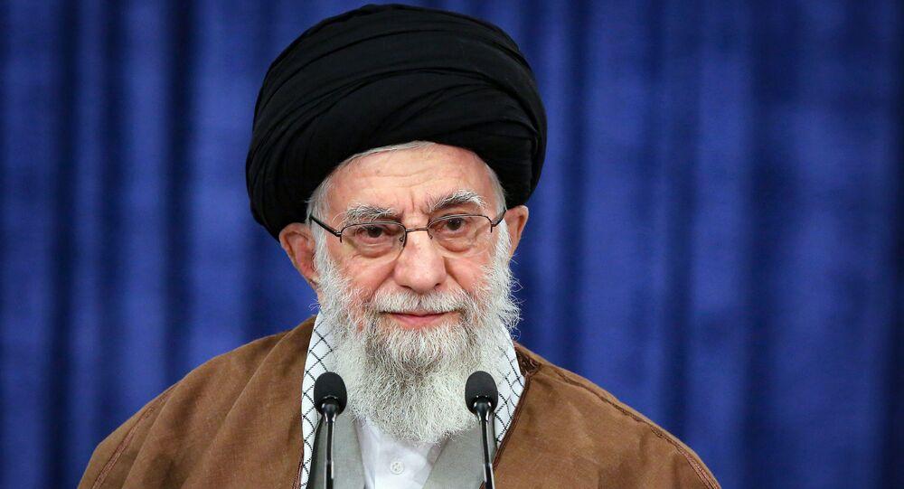المرشد الأعلى الإيراني علي خامنئي، إيران مارس 2021