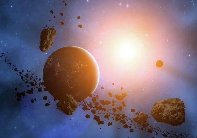 كوكب محاط بالكويكبات
