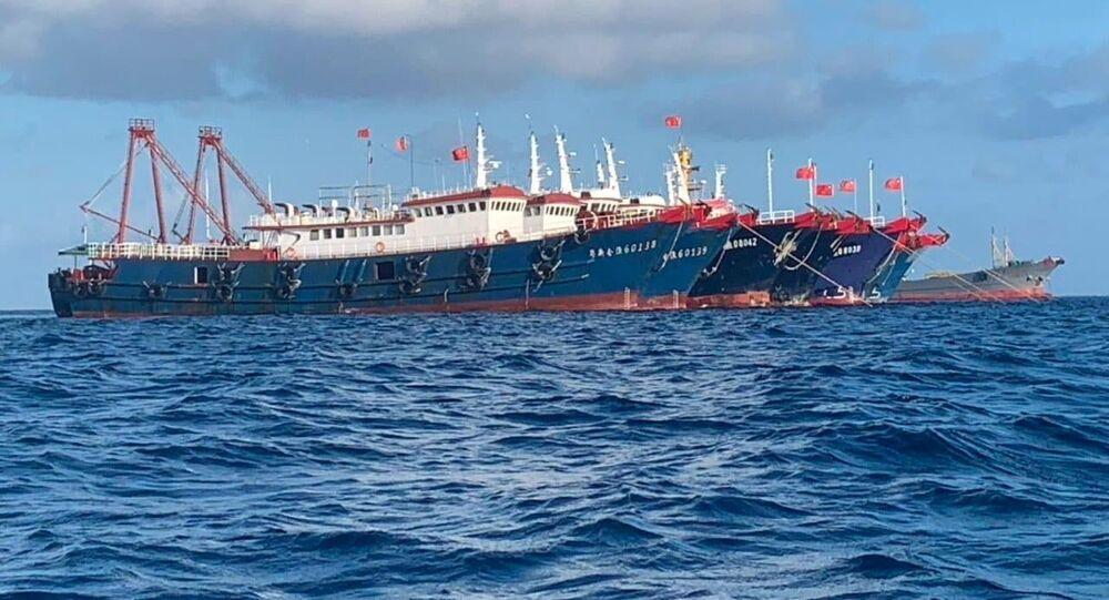 منطقة النزاع بين الصين و الفلبين - بحر الصين الجنوبي، 27 مارس 2021