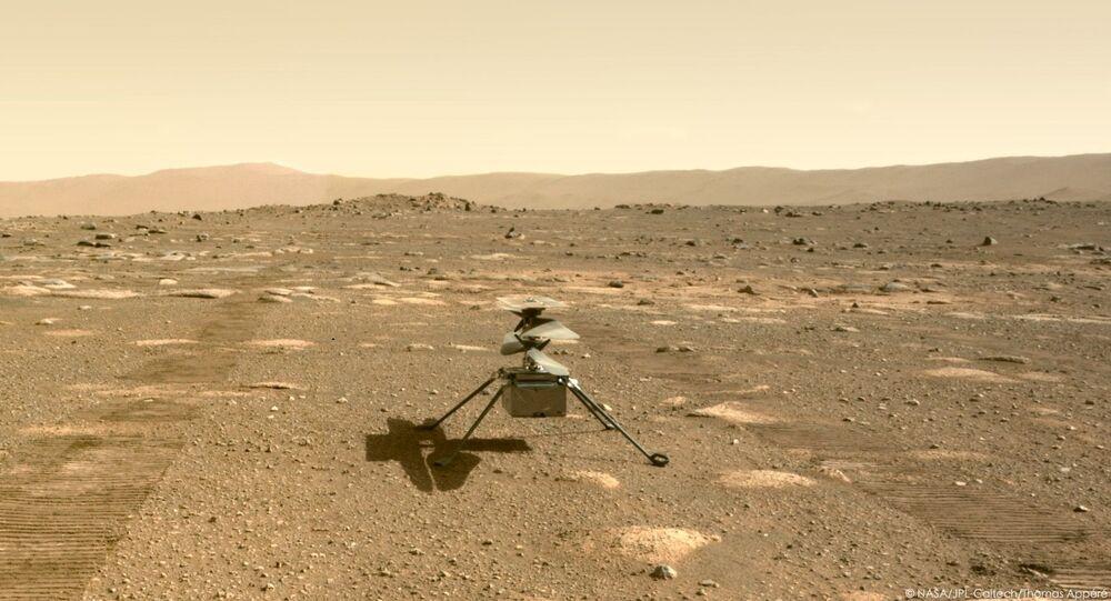 وكالة الفضاء الأمريكية ناسا تطلق أول طائرة حوامة إنجينيويتي فوق سطح كوكب المريخ