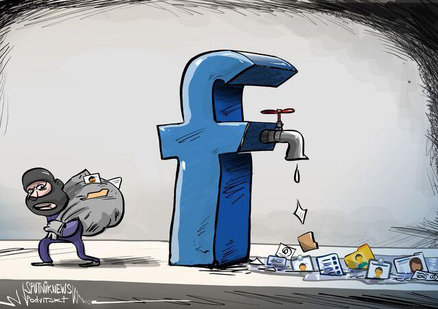 كاريكاتيرتسريبات فيسبوكية