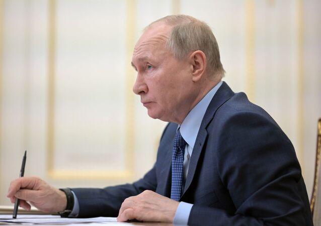 الرئيس الروسيا فلاديمير بوتين، روسيا 8 أبريل 2021