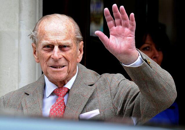 الأمير فيليب، زوج ملكة بريطانيا إليزابيث الثانية، لندن، بريطانيا 9 يونيو 2012