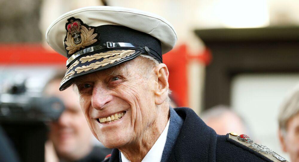 الأمير فيليب، زوج ملكة بريطانيا إليزابيث الثانية، لندن، بريطانيا 8 نوفمبر 2012