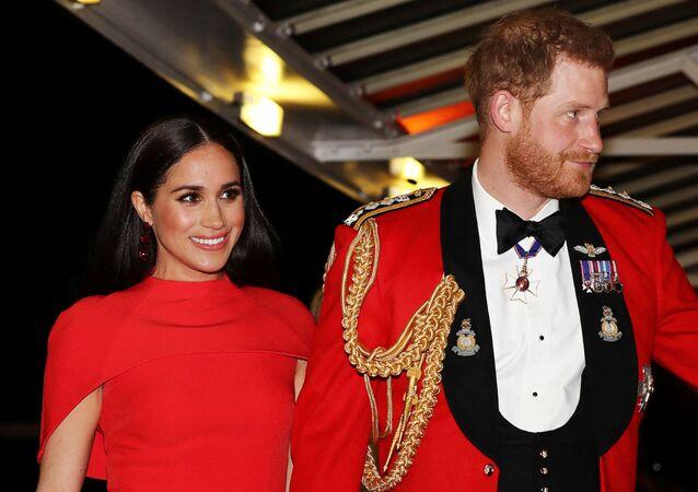 الأمير البريطاني هاري وزوجته ميغان ماركل