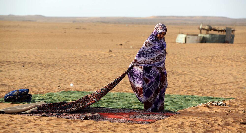 امرأة من مخيمات الجمهورية الصحراوية