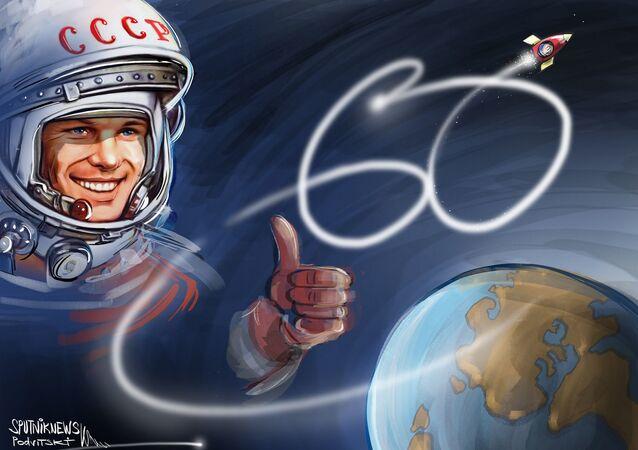 الذكرى الستين لأول رائد فضاء في العالم