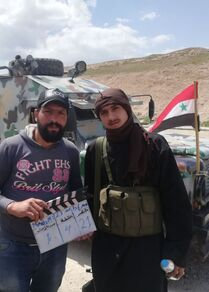 كاميرا المخرج السوري نجدت أنزور، تصور في أرجاء أهم القواعد الجوية شمال سوريا، المعروفة بـ مطار كويرس، سوريا