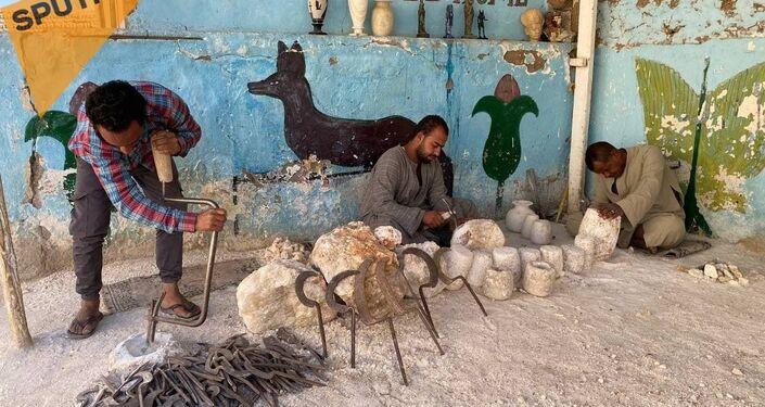 المرمر المصري ... من صناعة أواني قرابين الآلهة إلى تجسيد تماثيلهم في مصر القديمة