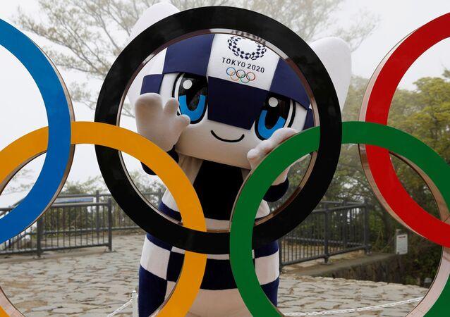 أولمبياد طوكيو 2020 - الألعاب الأولمبية والبارالمبية الصيفية - التميمة الرسمية لدورة الألعاب الأولمبية والبارالمبية طوكيو 2020: ميرايتوا، طوكيو، اليابان 14 أبريل 2021