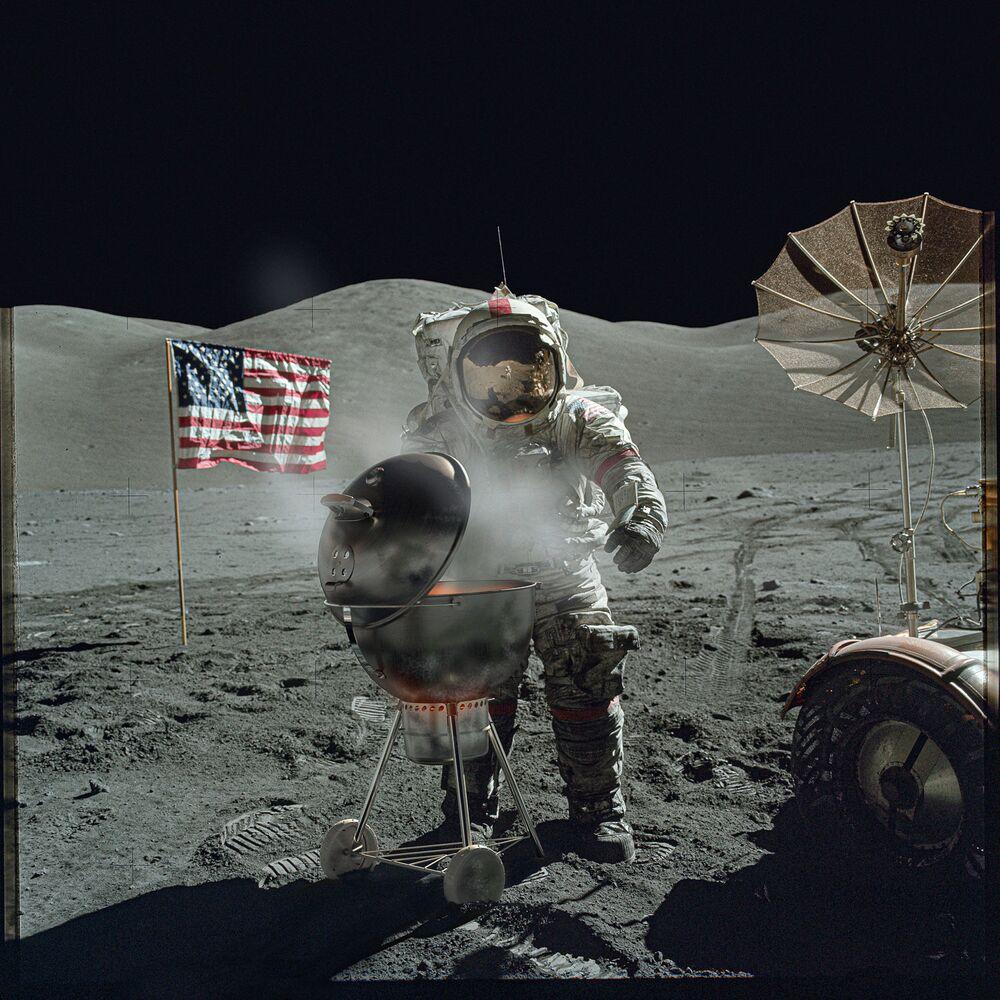 صورة من سلسلة العودة إلى القمر، للمصور البريطاني مارك هاميلتون غروتشي، الفائزة في فئة الإبداع المحترف في مسابقة جوائز سوني العالمية للتصوير الفوتوغرافي 2021