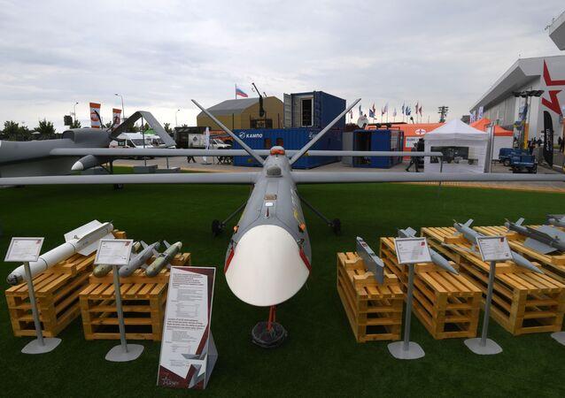 الطائرة المسيرة العسكرية أوريون في معرض أرميا 2020