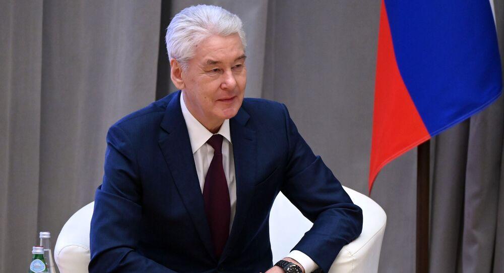 عمدة مدينة موسكو سيرغي سوبيانين، روسيا  16 أبريل 2021