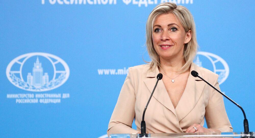 المتحدثة الرسمية باسم الوزارة الخارجية الروسية ماريا زاخاروفا، موسكو، روسيا 15 أبريل 2021