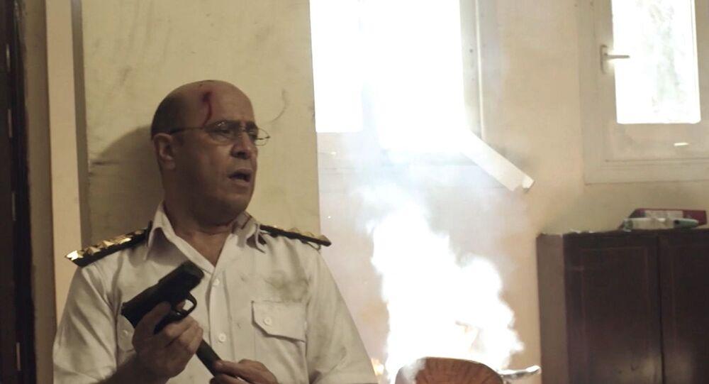 الفنان المصري، أشرف عبد الباقي، في مشهد من الحلقة الخامسة من مسلسل الاختيار 2