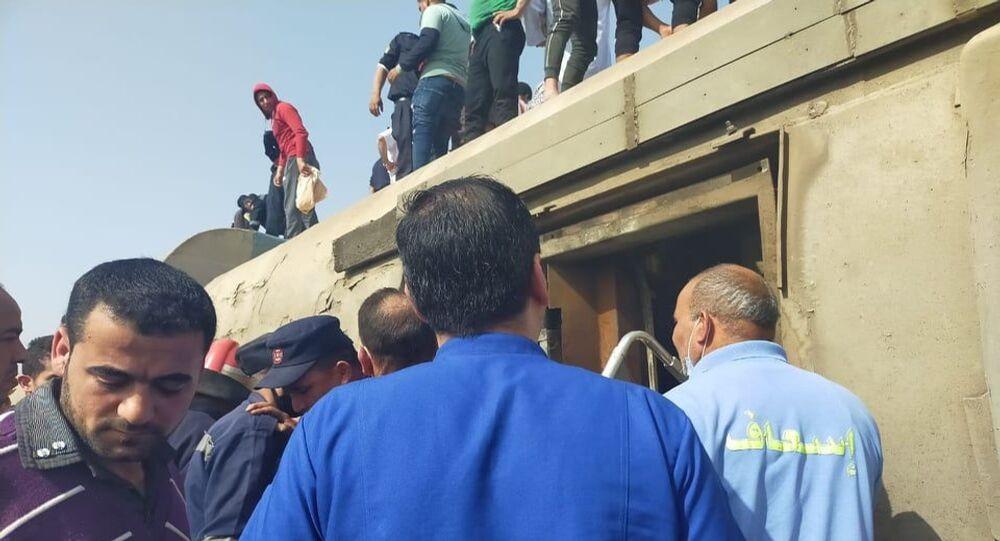 خروج قطار عن القضبان بالقليوبية شمالي القاهرة