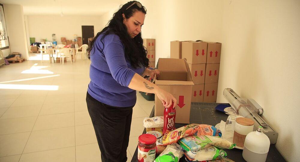 حملة توزيع السلل الغذائية في بيروت، لبنان