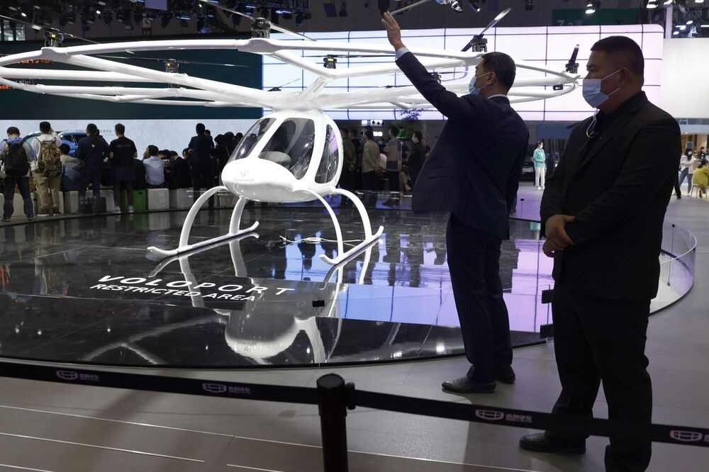 مركبة طائرة معرض شنغهاي للسيارات، الصين 19 أبريل 2021