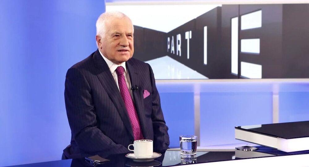 الرئيس التشيكي السابق فاتسلاف كلاوس