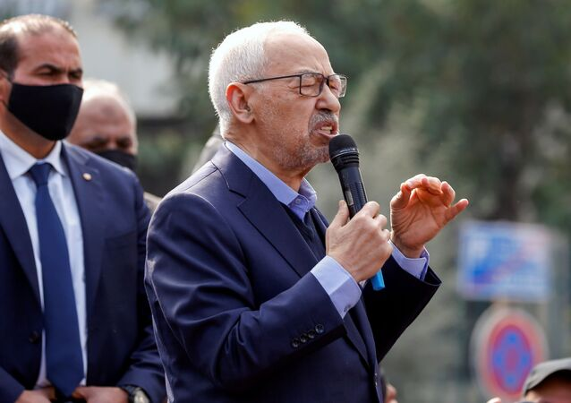 رئيس البرلمان التونسي راشد الغنوشي، 27 فبراير 2021