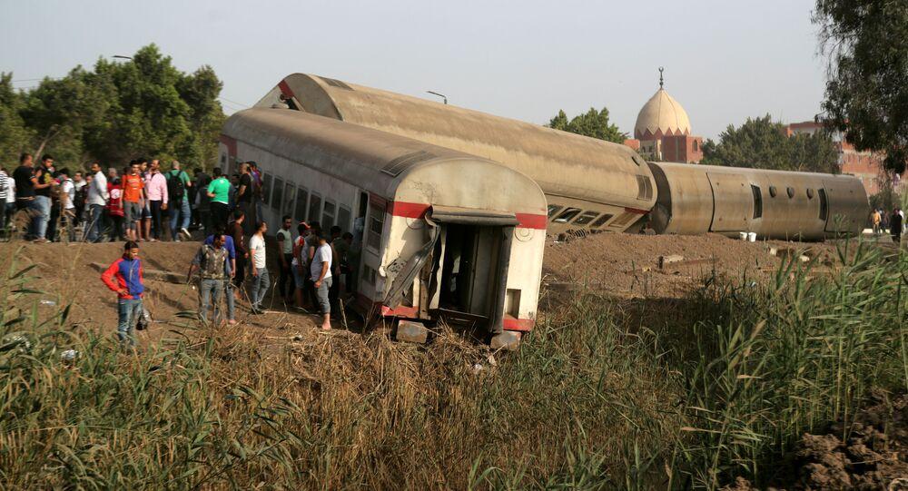 حادث قطار في محافظة القليوبية، مصر 18 أبريل 2021