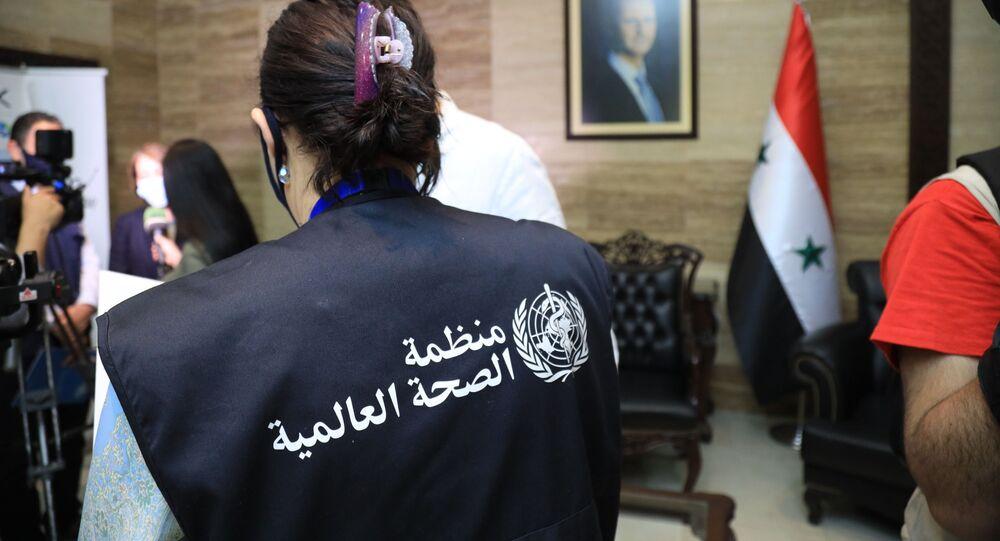 سوريا تتسلم 203 آلاف جرعة من لقاح أسترازينيكا كدفعة أولى من لقاحات ضد فيروس كورونا، سوريا 22 أبريل 2021
