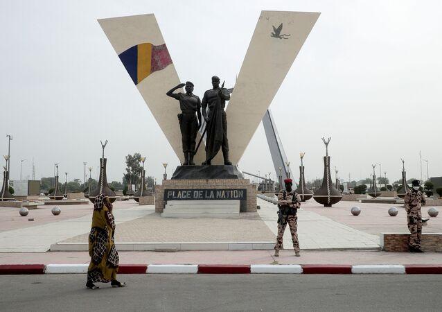 الجنود التشاديون في إنجامينا، تشاد 23 أبريل 2021