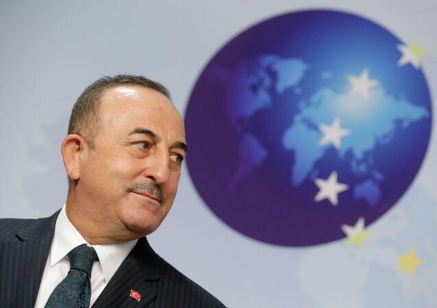 وزير الخارجية التركي، مولود تشاووش أوغلو في بروكسيل، بلجيكا 21 يناير 2021