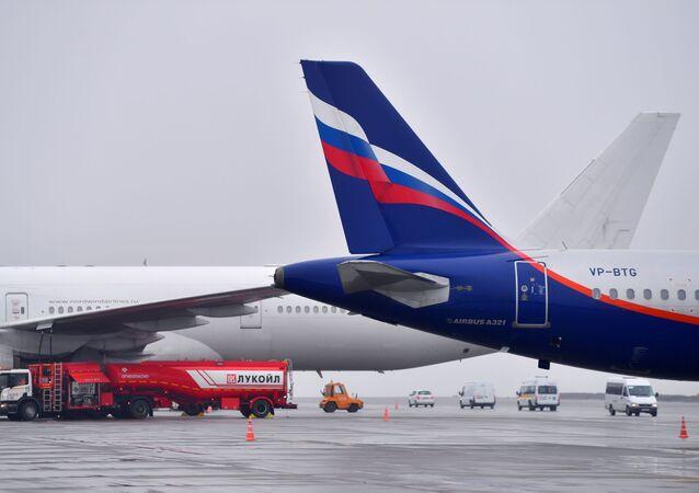 مطار شيريمتيفو، الطيران الروسي آيروفلوت، موسكو، روسيا مارس 2021