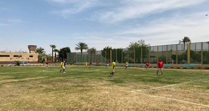 مباراة كرة قدم داخل أحد السجون المصرية، 24 نيسان/ أبريل 2021