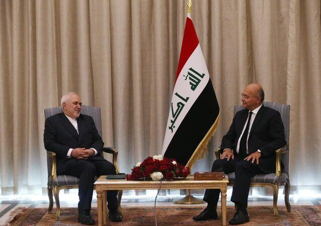 الرئيس العراقي برهم صالح يستقبل وزير الخارجية الإيراني محمد جواد ظريف
