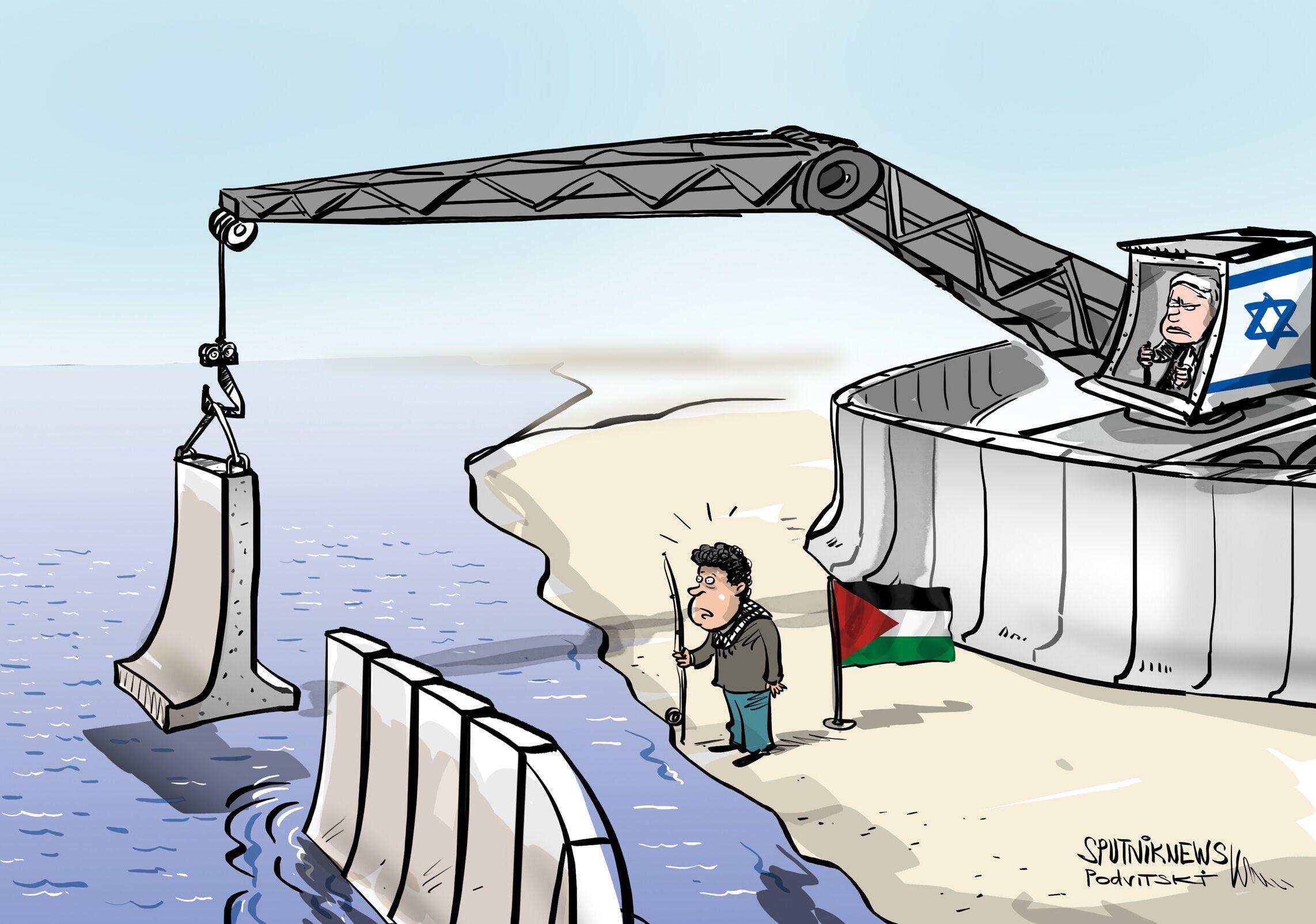 تقليص مساحة الصيد البحري في غزة