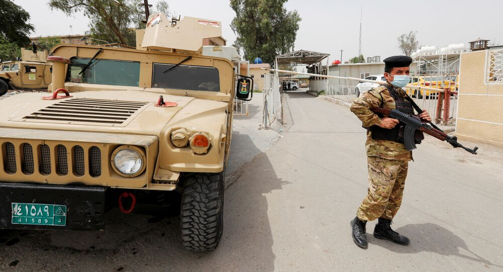 قوات الأمن العراقي، بغداد، العراق 25 أبريل 2021