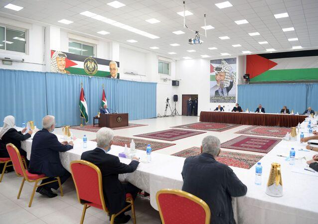 لجنة الانتخابات الفلسطينية، رام الله، الضفة الغربية، فلسطين 25 أبريل2021