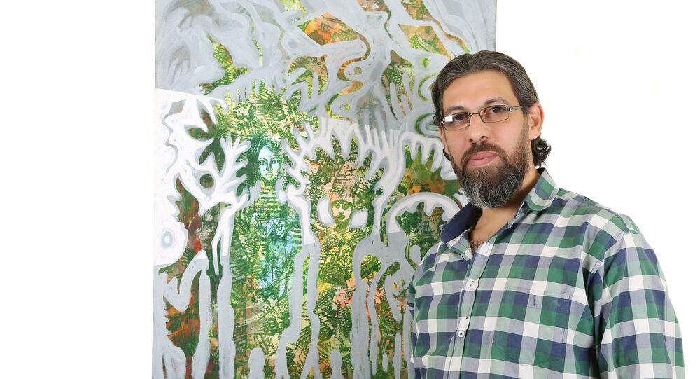 أعمال الفنان التشكيلي الفلسطيني السوري معتز مصطفى العمري