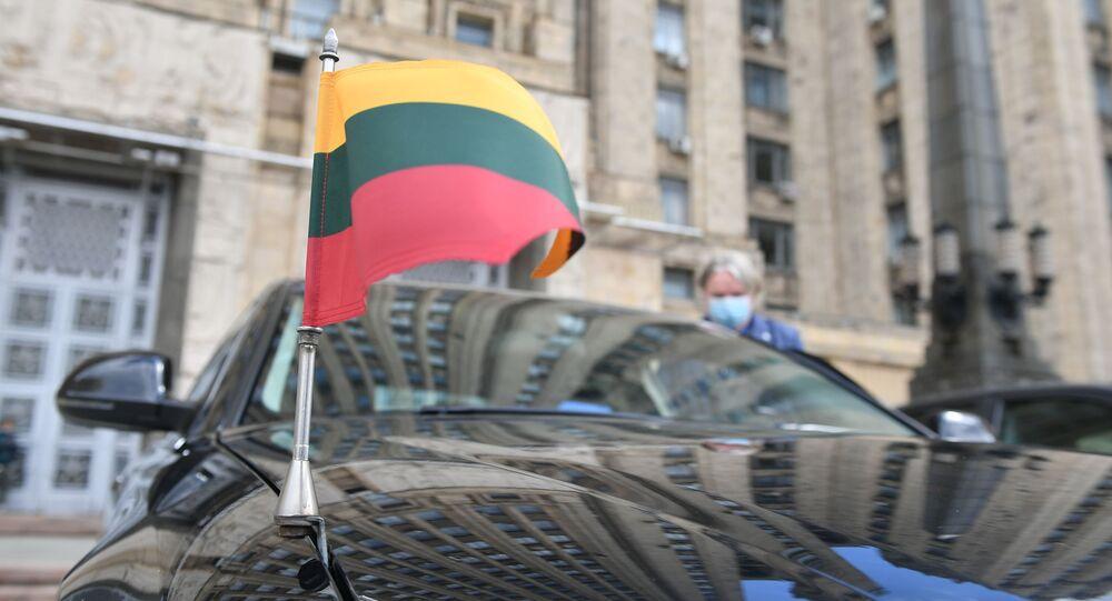 علم ليتوانيا، سفارة ليتوانيا، روسيا 28 أبريل 2021