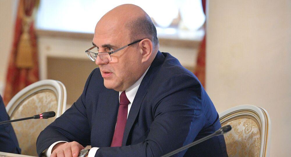 رئيس الحكومة الروسية ميخائيل ميشوستين يلتقي مع رئيس الوزراء الأرمني نيكول باشينيان في جلسة للمجلس الحكومي الدولي للاتحاد الاقتصادي الأوراسي في قازان، روسيا 29 أبريل 2021