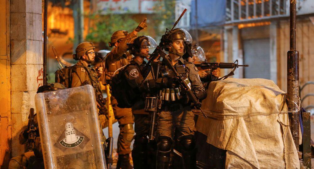 مواجهات في الضفة الغربية، الخليل، فلسطين 25 أبريل 2021