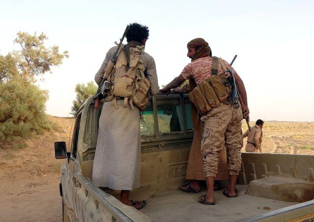 القوات الموالية لقوات التحالف العربي بقيادة السعودية
